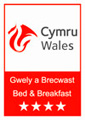 Visit Wales 4 star bed and breakfast accommodation
